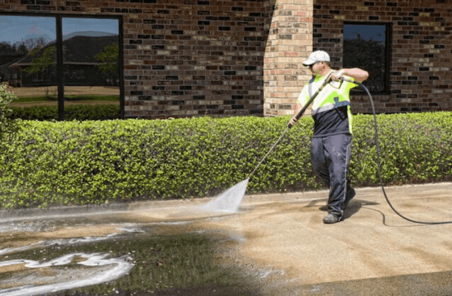 commercial concrete cleaning in grand prairie